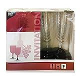 20 Stiel-Gläser für Rotwein, PS 'Invitation' 0,2 l Ø 7,35 cm · 13,55 cm glasklar Plastik