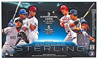 Sports Memorabilia 2013 Bowman Sterling Baseball Factory Sealed Hobby Box Cardshark