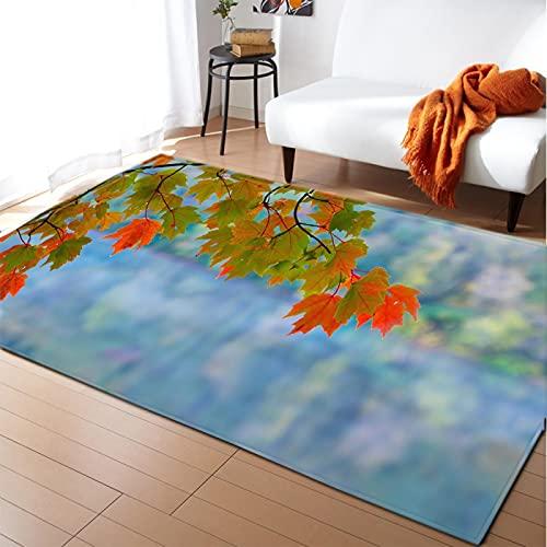 LGXINGLIyidian Alfombra Hermosas Flores Frescas Lago Bosques Alfombra Suave Antideslizante De Decoración del Hogar De Impresión 3D C-1425U 120X180Cm