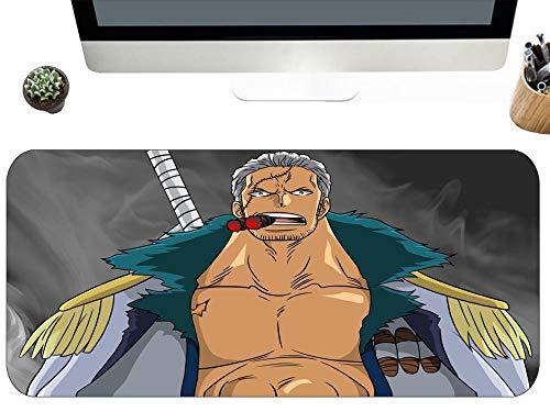 Gaming Mauspads One Piece Smoker Anime Charakter Extended Glatte Oberfläche Tastaturpad Geeignet Für Gamer Size D