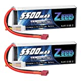 Zeee 11.1V 80C 5500mAh 3S Lipo Battery with Deans T Connector Soft Case Battery for Airplane Helicopter DJI F450 Quadcopter Car Truck Boat RC Hobby (2 Pack)
