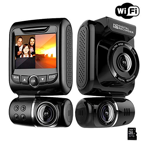 Dashcam Auto, MANLI Dashcam Autokamera1080P Full HD Auto Kamera mit Rückfahrkamera, Parkhilfe, ADAS, Super Nachtsicht, Loop-Aufnahme, G-Sensor LCD-Anzeige(Mit 32 GB SD-Karte)