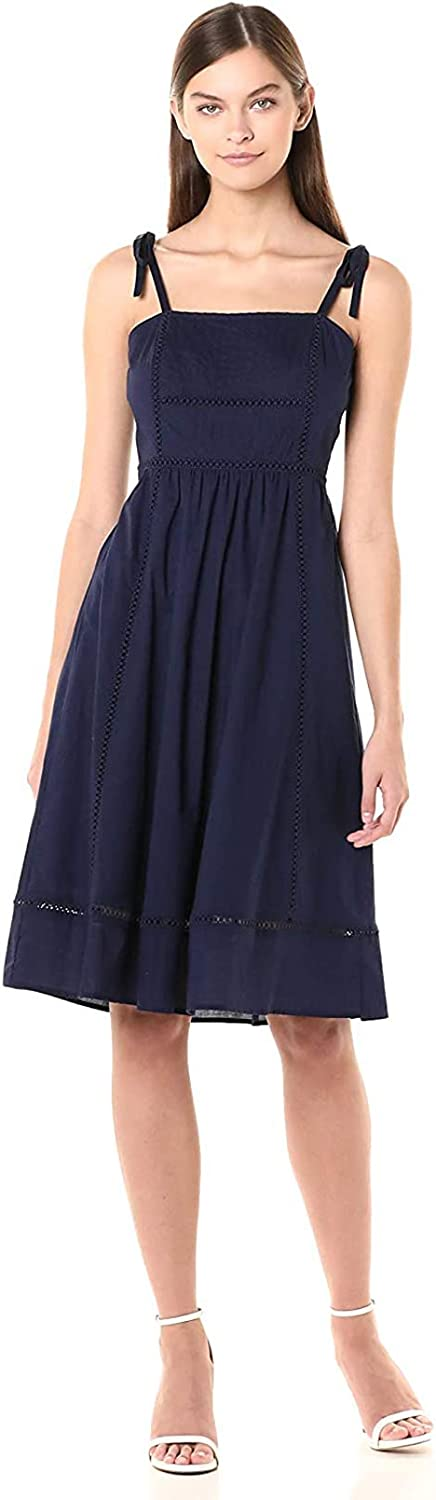 Anne Klein Women's Sleeveless Embroidered Fit & Flare Dress