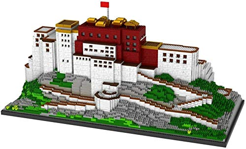 RSVT 10000 Uds Mini Arquitectura Mundial Potala Palace Castle Block Set 3D Tibet City Church Building Brick Toy para Niños Regalos
