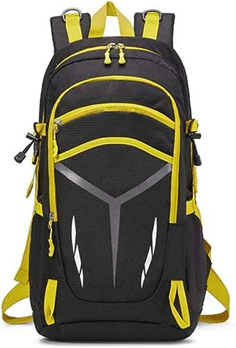HFL Sac à Dos Plein air, Sac à Dos Grande capacité pour Hommes et Femmes pratiquant l'alpinisme,jaune