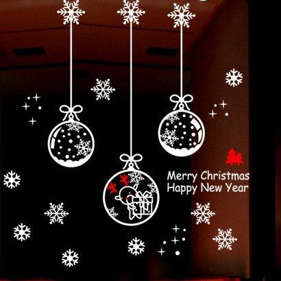 ZHAOWM Etiqueta de la pared de navidad Decoración Navideña Bola De Cristal...