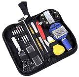 Kit de Reparación de Relojes, Cadrim 147 pcs Herramientas de Reparación Profesional para Barra de Resorte, kit de Herramientas de Reemplazo de la Batería del Relojo, Varios Accesorios,etc.