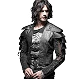 Punk Rave Mens Leather Goth Brocade Victorian Military Steampunk Gothic Waistcoat Vest