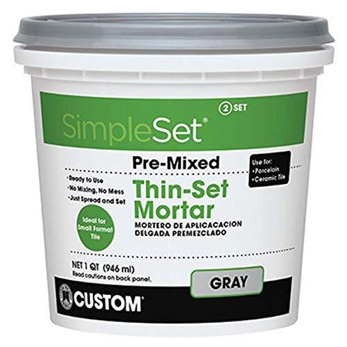 Custom BLDG Products CTTSGQT Pre-Mixed Thin Set Mortar