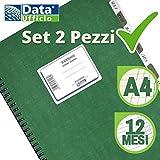 Data Ufficio DU131624000 Registro Scadenziario Mensile Annuale A4 Spiralato Pagamenti Ufficio - Scadenziario 12 Mesi Fornitori Annuale da scrivania - Gennaio Dicembre (2)