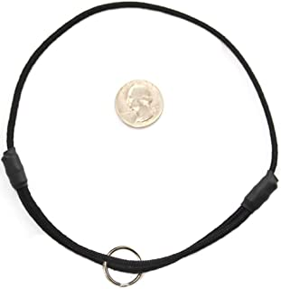 "National Leash Mountain Rope Dog ID Collar- Lava Butte Black - Medium (14""-20"") Ultra Lite"