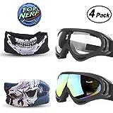 FINAL BASE Goggles 2 Pack Mask Pack de 2 para máscaras Nerf Pistolas Gafas de Protección de Seguridad Mascarillas para Pistolas nerf Gun de Espuma Serie N-Strike Elite