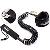Overmont Correa Surf Leash Sup Cable en Espiral 10 pies TPU de 7mm para Paddleboard...