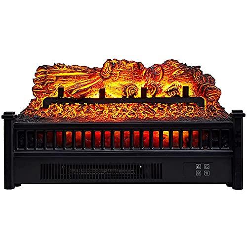 YQZ Chimenea eléctrica con Control Remoto, Calentador de habitación con Efecto de Llama Realista en 3D con función de Cierre por sobrecalentamiento sin Cenizas, 1800 W