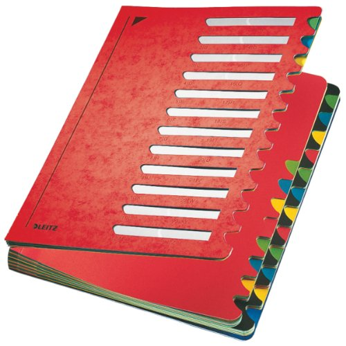 Leitz 59140025Organiser File Color 1-2424Sections Cardboard Red