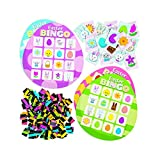 Fun Express Easter Egg Bingo (100 Total Pieces, 16 Game Cards) Easter Family Activities and Games, NoveltyToys, Classroom Supplies