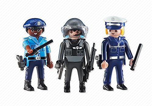 Playmobil - 6501 - 2 Policiers et 1 Policière - Emballage Plastique, pas de boîte en carton