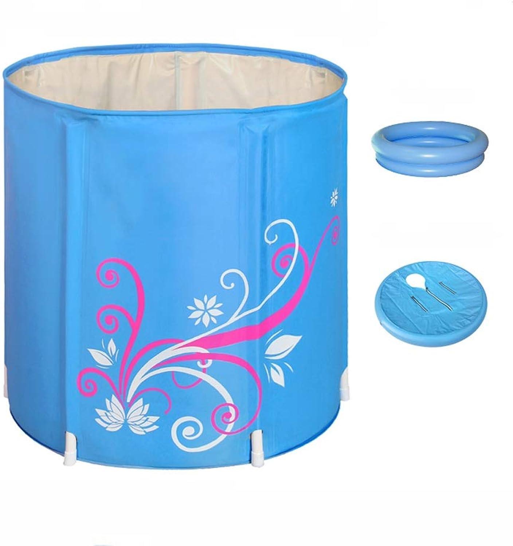 Bathtub FJH Thickened Quilted Bath Tub Folding Bath Tub Barrel Inflatable (color   A, Size   65  65cm)