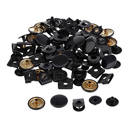 Colcolo 20 Juegos de Ganchos de Costura, Cierres de Ojos, Hebillas para Reparación de Faldas de Pantalones - Negro, Individual