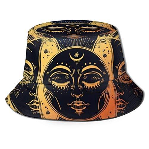 Yearinspace Sombrero unisex para el sol, diseño de pavo real, ala ancha, protección solar al aire libre, para caminar, pescador, cubo de Rubik
