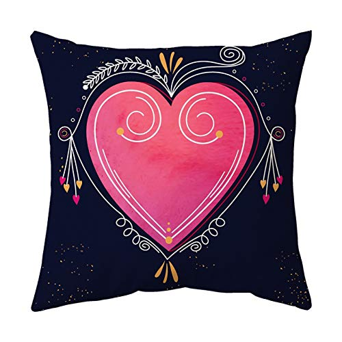 YANFANG Almohada de Pareja Amor y Amistad Material de Cuero melocotón Suave y cómodo para el día de San Valentín