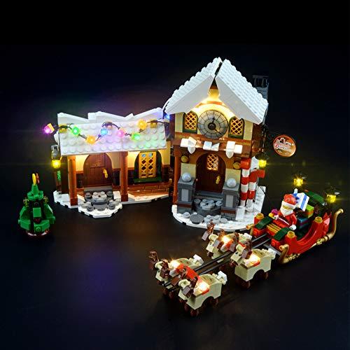 iCUANUTY Set di Luci per Lego La Bottega di Babbo Natale, Kit Luce LED Compatibile con Lego 10245 (Non Include Il Modello Lego)