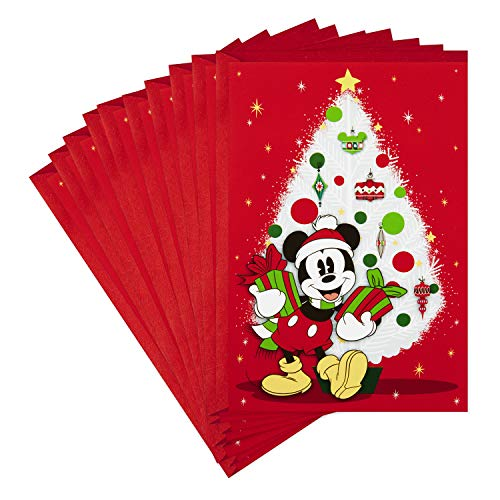 Hallmark Pack of Disney Christmas Cards, Jolly Joyful Mickey Mouse