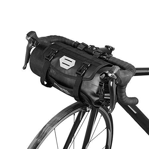 Lixada Wasserdicht vorne Fahrrad Tasche, Bike Frontrahmen Lenker Gepäckträger mit Rolle, DRY BAG Top Verschluss 3L-7L verstellbar