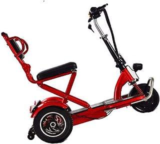 YWS Triciclo Scooter Eléctrico para Adultos Plegable, Discapacitados Ancianos Portátil Silla De Ruedas Eléctrica De Tres Ruedas Eléctrica Triciclos De Carga