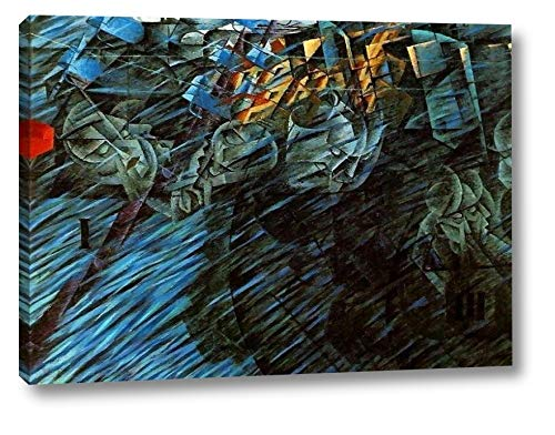 """States of Mind, Those Who Go by Umberto Boccioni - 12"""" x 16"""" Gallery Wrap Canvas Art Print - Ready to Hang"""