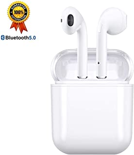 Bluetoothイヤホン ブルートゥースイヤホン 完全ワイヤレスイヤホン bluetooth ヘッドセット ブルートゥース ヘッドセット ワイヤレスイヤホン ノイズキャンセリング ハイレゾ イヤホン ポータブルオーディオ ハイレゾ対応 マイク内蔵 スポーツ ヘッドセット 音楽ヘッドフォン  防水Bluetooth4.2 高音質 充電ケース付き 高音質ステレオ 無線 防汗 防滴 ワンボタン設計 通話可 完全独立 ミニ 軽量 完璧な代替品 携帯電話 コンピュータ各種対応 左右分離型 片耳&両耳対応 (白色)