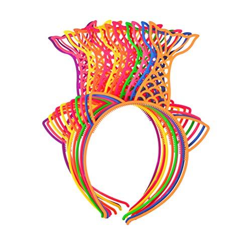 Lurrose 12 stuks zeemeermin plastic hoofdbanden kat oor haarband party haaraccessoires voor kinderen
