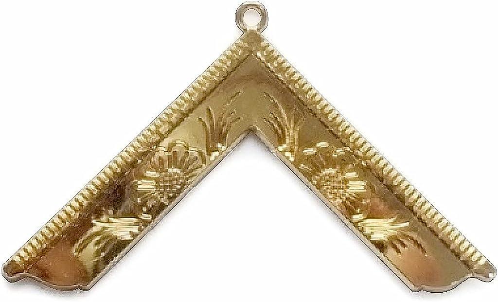 Masonic Gold Craft Lodge Collar Jewel Gold - Worshipful Master