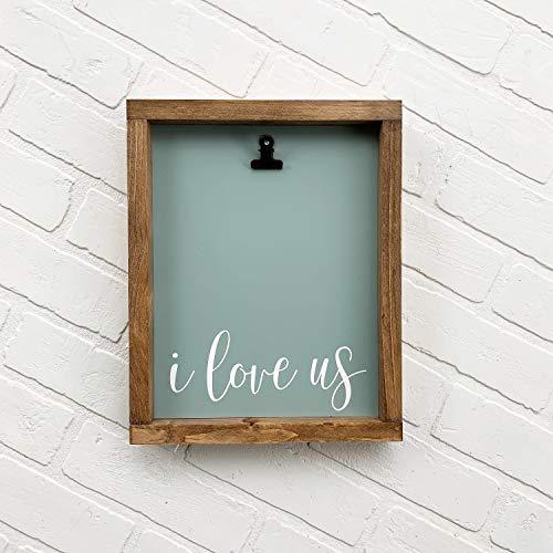 Ced454sy Ik hou van ons ingelijst hout teken fotolijst op maat foto huisdecoratie galerij muur opknoping moderne boerderij kwekerij
