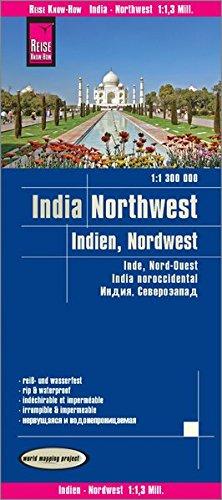 Reise Know-How Landkarte Indien, Nordwest / India, Northwest (1:1.300.000): reiß- und wasserfest (world mapping...
