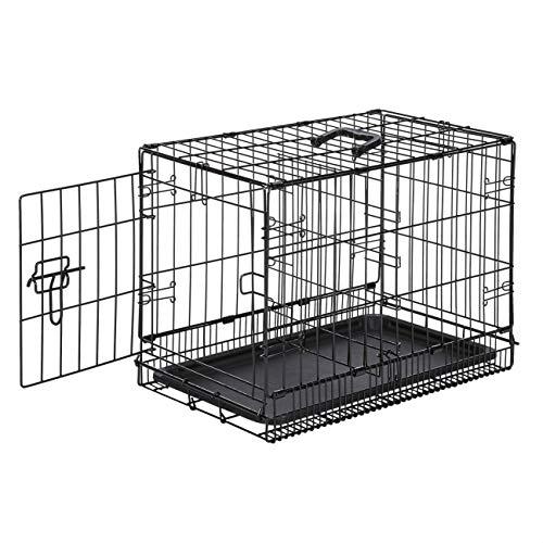 Amazon Basics Hundekäfig mit 1 Tür, Metall, zusammenklappbar, Gr. XS
