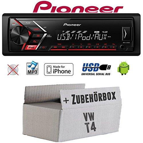 Autoradio Radio Pioneer MVH-S110UI -   MP3   USB   Android   iPhone Einbauzubehör - Einbauset für VW Bus T4 - JUST SOUND best choice for caraudio