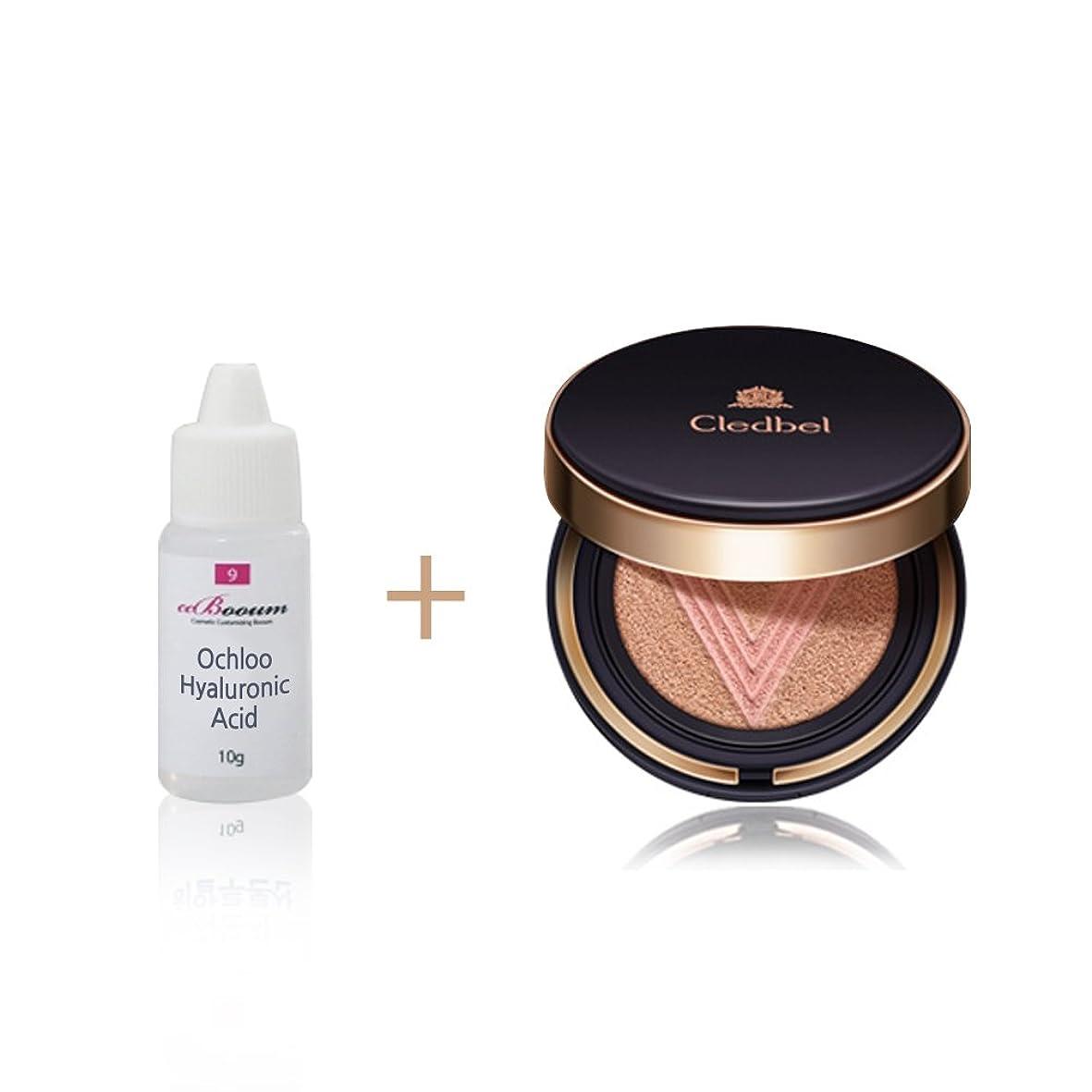 ハイランド肯定的ベーシックCledbell: Ultra Power Lift V Cushion: Shining Skin. No. 21: Pink Gold Beige. 超高性能 シャイニング·スキン + Ochloo hyaluronic acid 10ml.