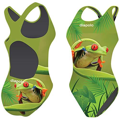 Diapolo Costume da bagno rana collezione per nuoto sincronizzato Nuoto pallanuoto thriathlon, Tree Frog1, M