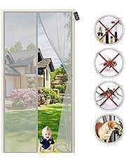 Vliegenhor voor Deur Magnetisch Net - Zelfsluitende Mosquito Insecten Mesh Gordijn - voor Balkon Kinderkamer Woonkamer Verandadeur 95 x 240 cm Grijs