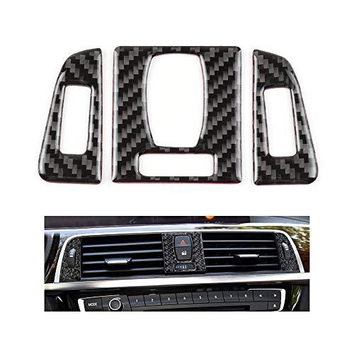 1797 Compatible AC Vents Decal Sticker for BMW Accessories Parts Carbon Fiber Air Condition Covers Interior Decorations 3 4 Series GT F30 G20 F32 320i 328i 335i 428i 430i 435i 440i Women Men 3 Pack