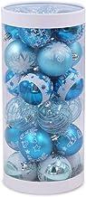 24 Piece Set Christmas Ball Bright Ball Christmas Tree Pendant Christmas Decoration Ball Painted Ball Set