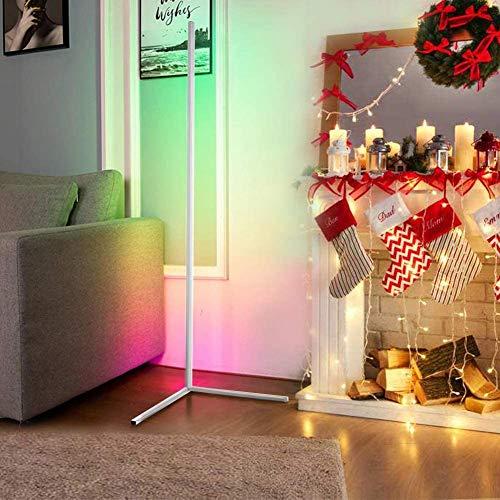 WFGZQ Lámpara De Pie De Esquina LED, Luz De Ambiente De Pie Que Cambia De Color Minimalista Brillo Ajustable para La Decoración De La Sala De Estar del Dormitorio del Restaurante [Clase Energética A]