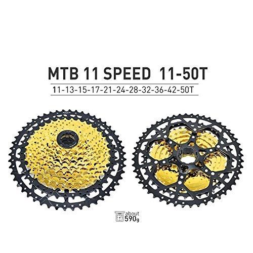 HIGHER MEN VTT Cassette 10 11 12 Vitesse 11-40T 42T 46T 50T Vélo de Montagne Vélo Roue Libre Pignons for Shimano SRAM Sunrace Pièces vélo (Color : 11S 11 50T)