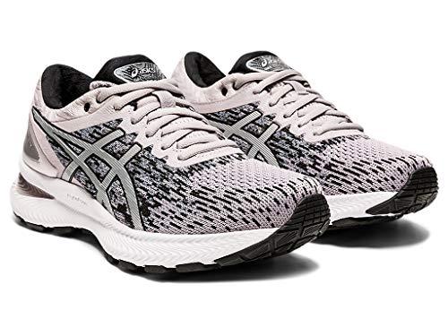 ASICS Women's Gel-Nimbus 22 Knit Running Shoes, 8M, Haze/Pure Silver