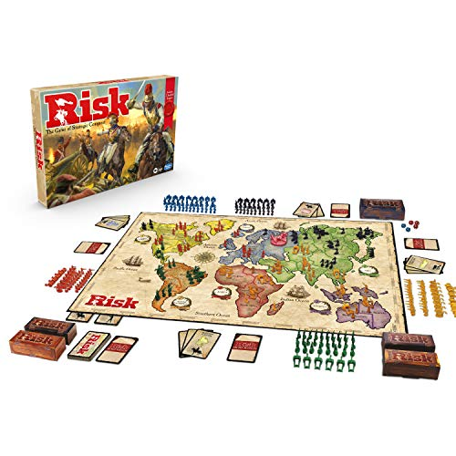 Hasbro Gaming Risk Game With Dragon, for Use With Amazon Alexa, Strategy Board Game Ages 10 and Up, With Special Dragon Token, Amazon Exclusive