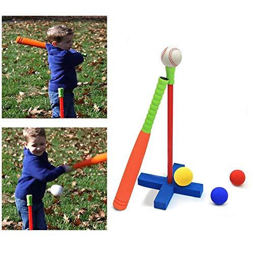 CHRISTY HARRELL Weihnachtsharrell-Baseball-Spielzeug, Mini-Schaumstoff-Tball-Set für Kleinkinder, mit Ständer – sicheres Baseball-T-Shirt und Softball-Spielzeug, Geschenk für Jungen und Mädchen