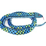 Lazada Realista Pitón Relleno Gigante Boa Constrictor Muñecas Felpa Serpiente Juguetes 170cm (Azul)