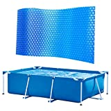 Cubierta solar para piscina, lona protectora para piscina, lámina solar gruesa...