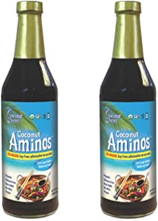 Coconut Secret Coconut Aminos (2 Pack) - 8 fl oz - Low Sodium Soy Sauce Alternative, Low-Glycemic - Organic, Vegan, Non-GM...